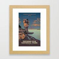 Fathom Five National Park Poster (Flowerpot Island) Framed Art Print