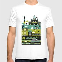 Helsinki Mens Fitted Tee White SMALL
