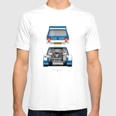 Outline Series N.º7, MG Metro 6R4, 1986 Mens Fitted Tee White SMALL