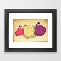Cows love ice cream Framed Art Print