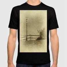 Light of Yester-Year SMALL Mens Fitted Tee Black