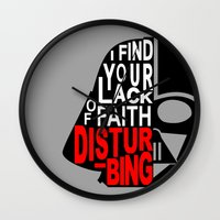 I Find Your Lack Of Fait… Wall Clock