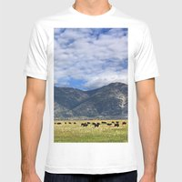 Field Of Cows Mens Fitted Tee White SMALL