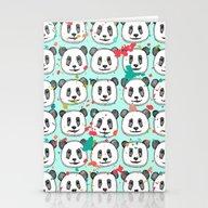 Splatter Pop Panda Cooki… Stationery Cards