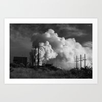 Geothermoelectrical Smok… Art Print