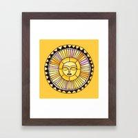 The Sun was incapable of making plans Framed Art Print