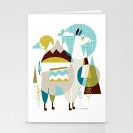 Mama The Llama Stationery Cards