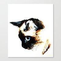 Siamese Cat 2015 edit Canvas Print