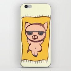 Pig On A Blanket iPhone & iPod Skin