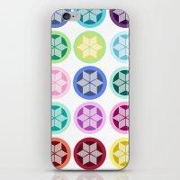 Colorful Snowflake Print iPhone & iPod Skin