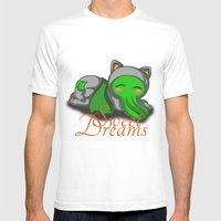 Sleepy Cthulhu Mens Fitted Tee White SMALL