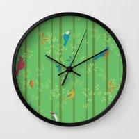 Hello Birdies Wall Clock
