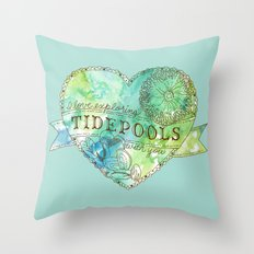 I Love Exploring Tidepools With You Throw Pillow