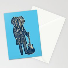 Elephant Guitar Player Stationery Cards