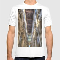 Rochester Cathedral Mens Fitted Tee White SMALL