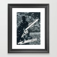 Trying To Make Sense Of It All Framed Art Print