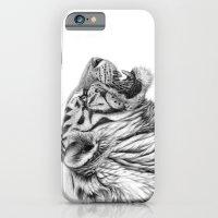 White Tiger Profile iPhone 6 Slim Case