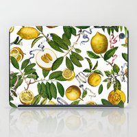 LEMON TREE White iPad Case