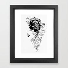 Lady black and white Framed Art Print