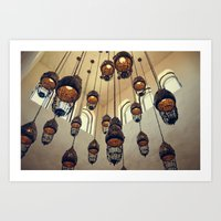 Hanging Moroccan Lamps Art Print