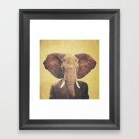 Humanimal: Elephant Framed Art Print