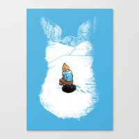 It's Getting Cold Canvas Print