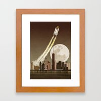 Rocket City Framed Art Print