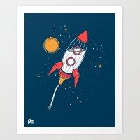 Bottle Rocket To The Mil… Art Print