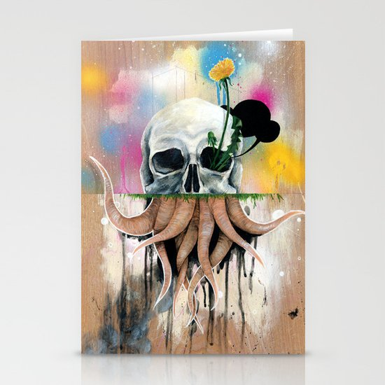 Skull Roots Stationery Card