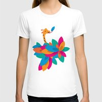 Orange And Trees Womens Fitted Tee White SMALL