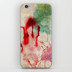 Green & Red Color Splash iPhone & iPod Skin