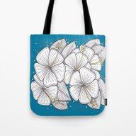 Zentangle Blue And Gold … Tote Bag