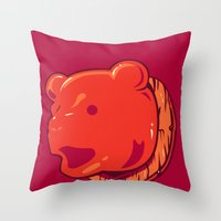 Bear prize Throw Pillow