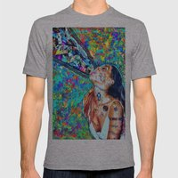 Tribal Shout Mens Fitted Tee Athletic Grey SMALL