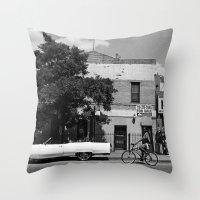 Man On A Bike Throw Pillow