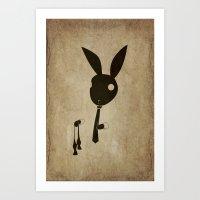 Goodbye Bow Tie Art Print