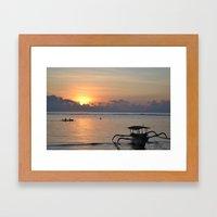 Quiet Sunrise Framed Art Print