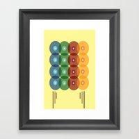 Analog Zine [Records] Framed Art Print