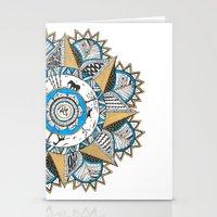 Gold & Turquoise Mandala Stationery Cards