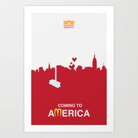 Coming to America - minimal poster Art Print