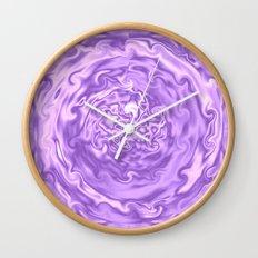 Purple Swirl Topography Wall Clock