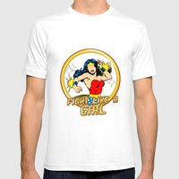 FIGHT LIKE A GIRL Mens Fitted Tee White SMALL