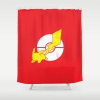 Pika-Flash Shower Curtain