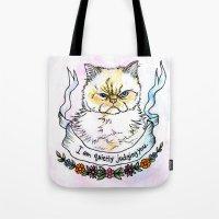 Judging You - A Cat's Li… Tote Bag