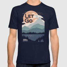 Let's Go Mens Fitted Tee Navy SMALL