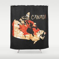 Canada Vintage Map Shower Curtain
