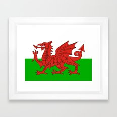 wales country flag united kingdom  Framed Art Print