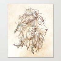 Poetic Lion  Canvas Print