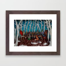 The Winter Feast Framed Art Print