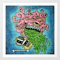Drunk Beholder Art Print